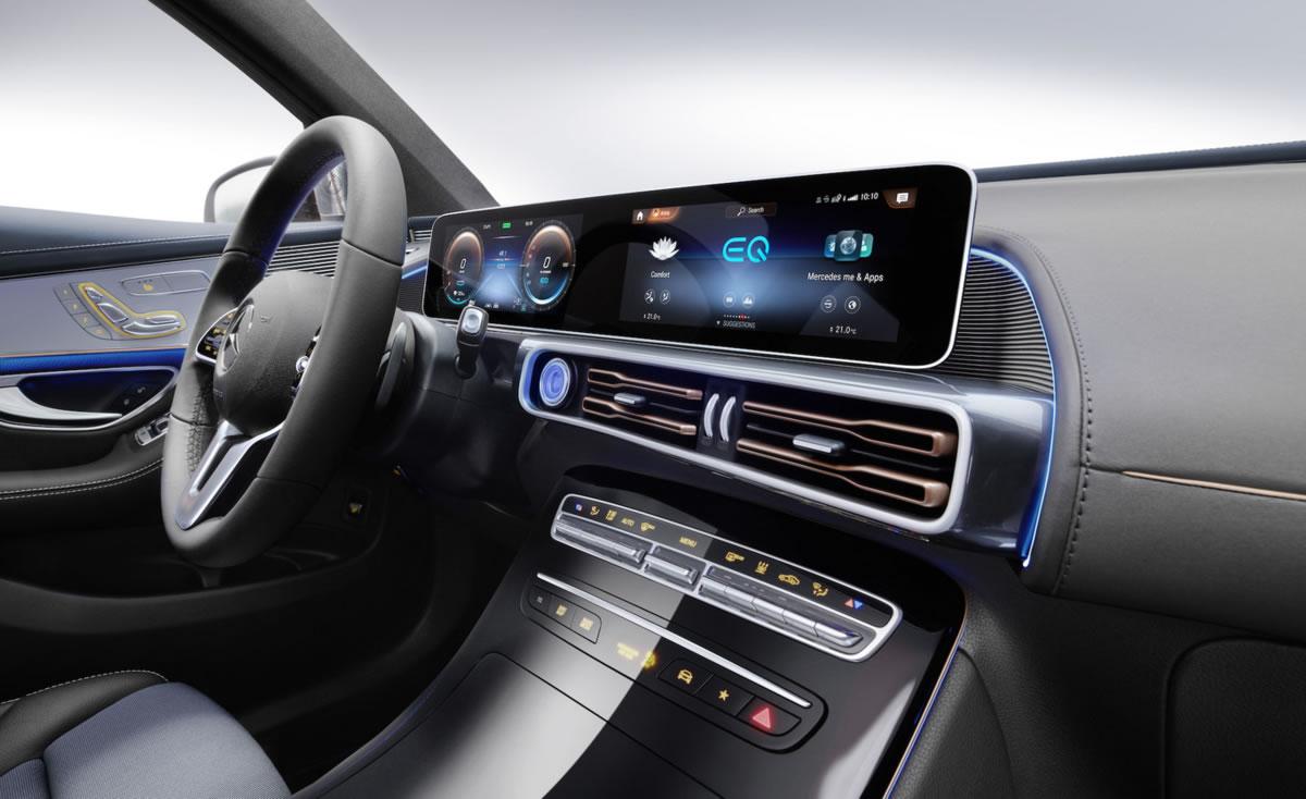 interior del primer SUV eléctrico de Mercedes