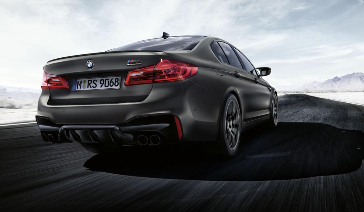 Visión trasera del BMW M5 Edición 35 Aniversario