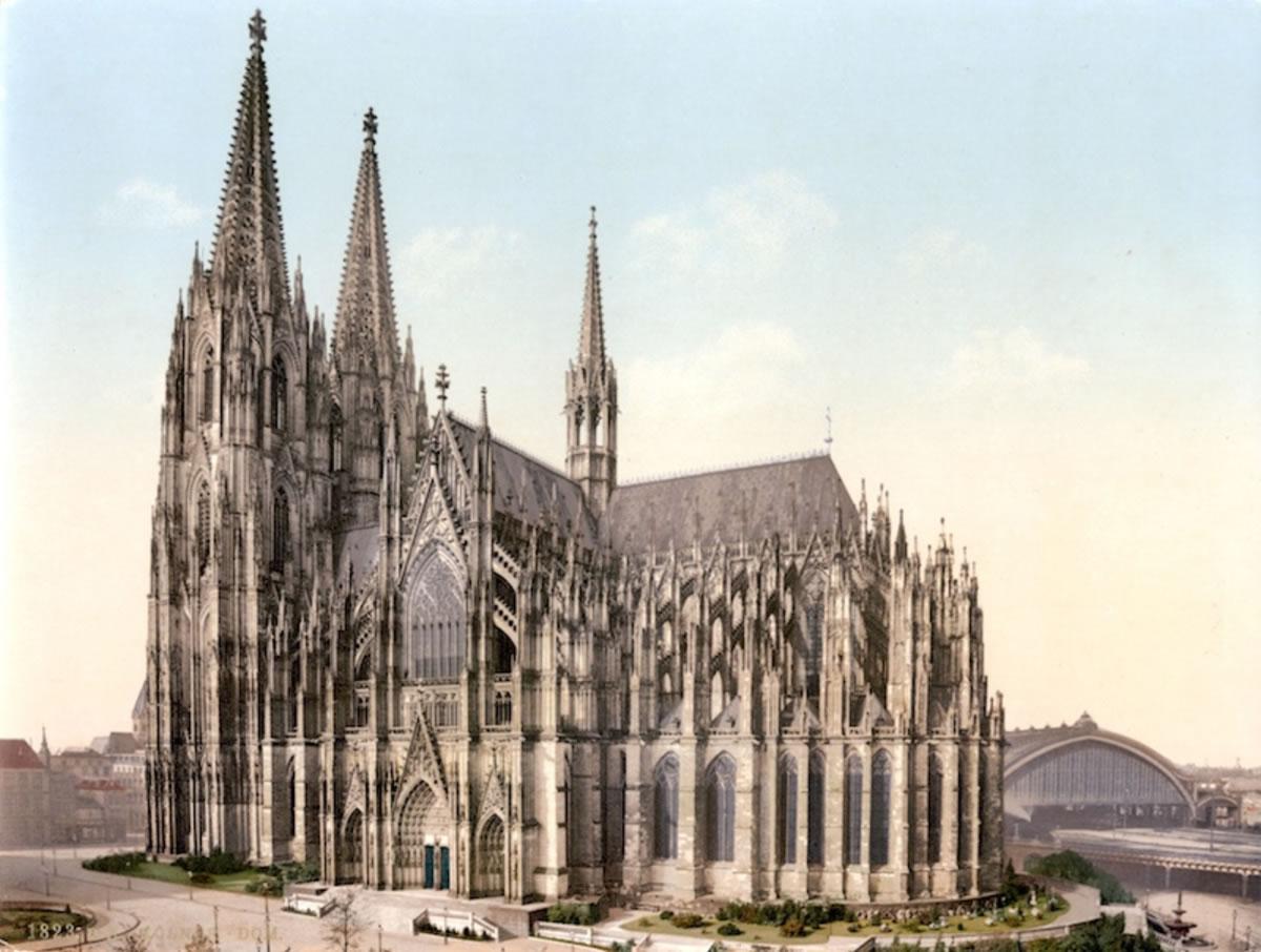 dibujo de la catedral de Colonia