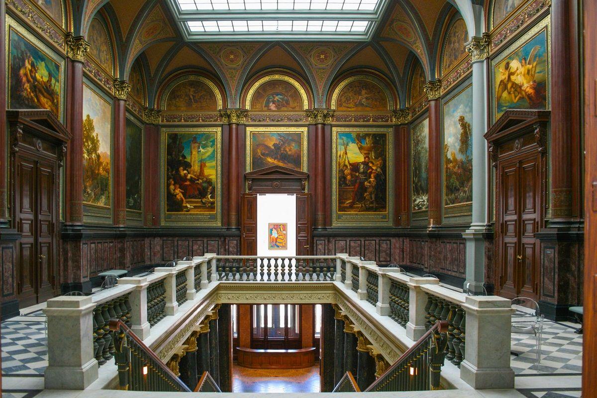 interior del museo de arte de hamburgo