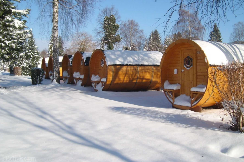 camping alemán con bungalows