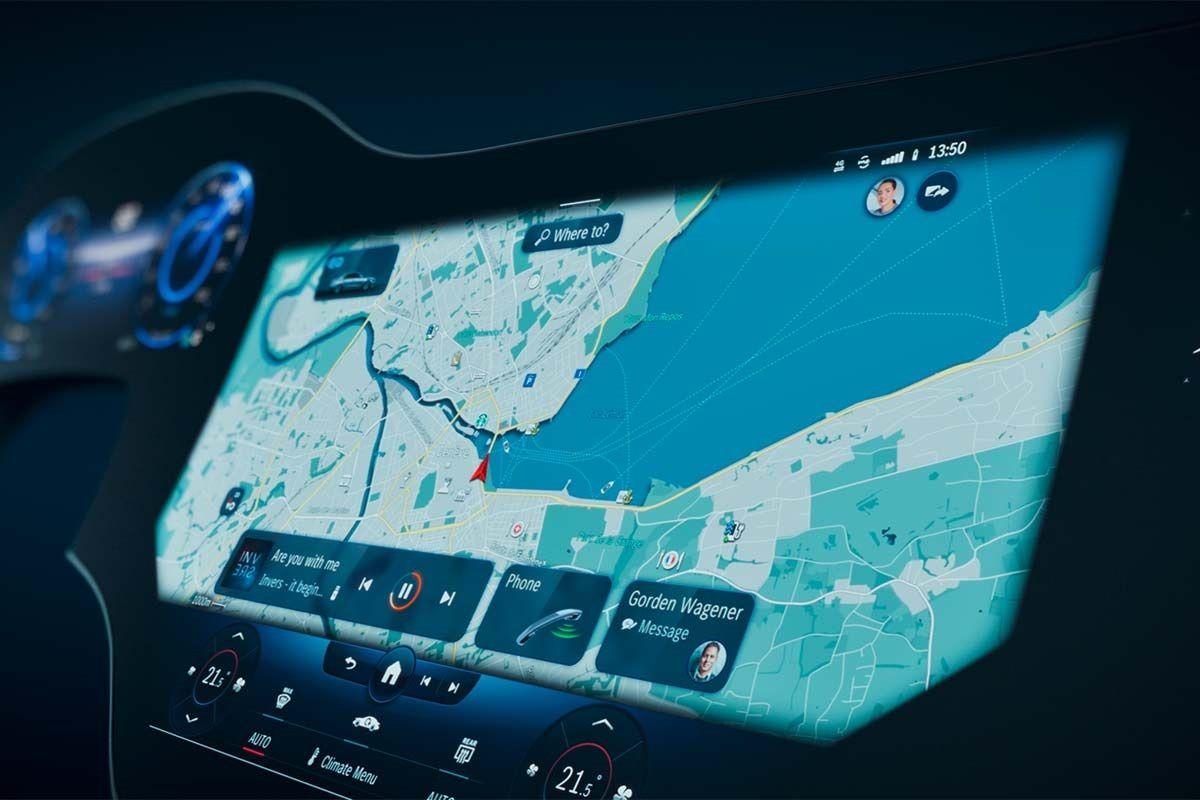 consola del Mercedes EQS 2022